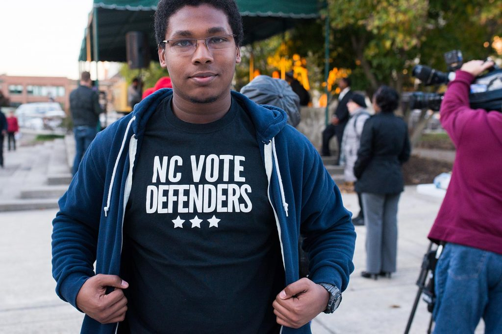 Marc Silvey of Ignite NC a student voting rights group that works to defend the youth vote.